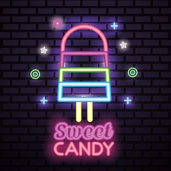 Сладкие конфеты неоновые