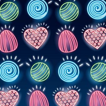 甘いお菓子のシームレスパターン