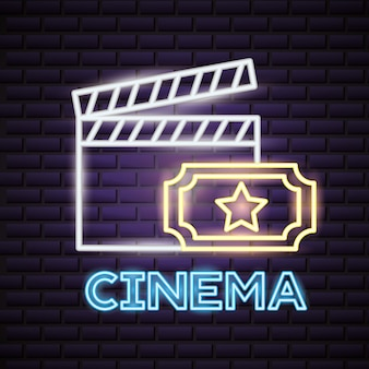 映画の時間ネオンサイン