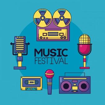 祭り音楽ポスター