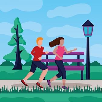 Люди, бегущие деятельность