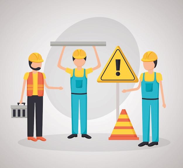 労働者の建設用機器