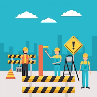 労働者建設機器