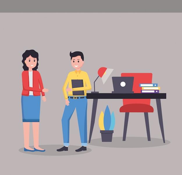 Люди офисное рабочее место