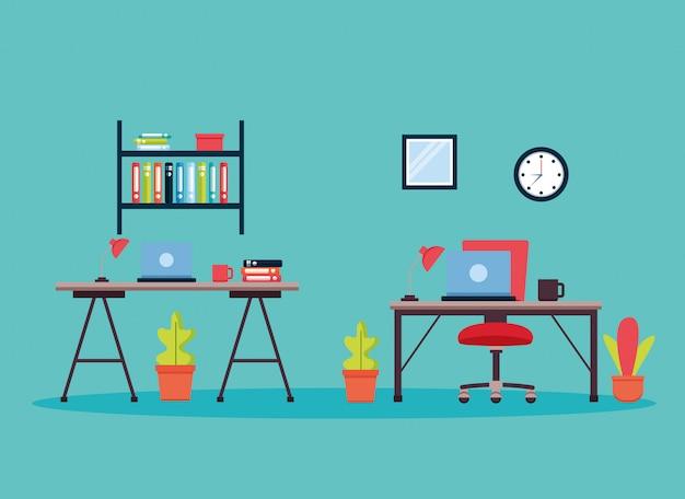 Интерьер офиса на рабочем месте