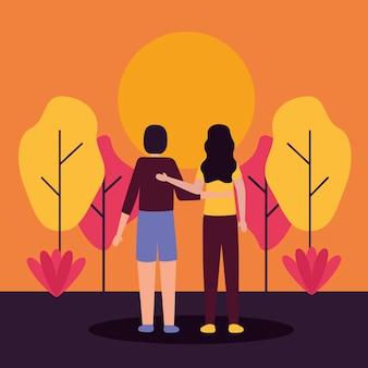 Пара романтических мероприятий на свежем воздухе