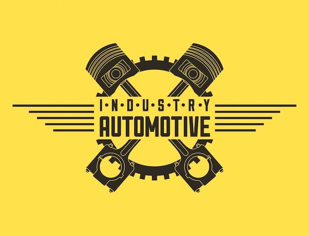 Логотип индустрии автомобильного автосервиса