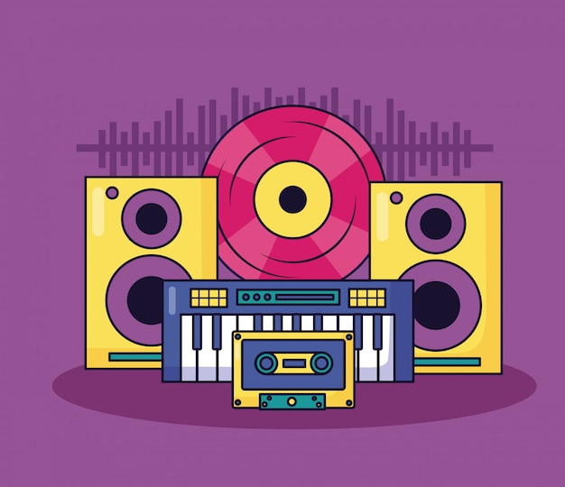 音楽のカラフルなイラスト