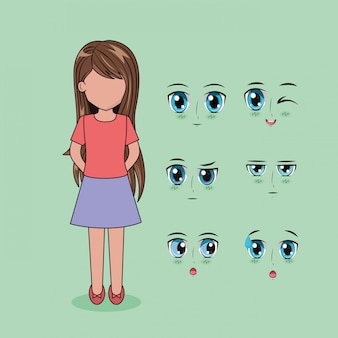 顔アニメの人々