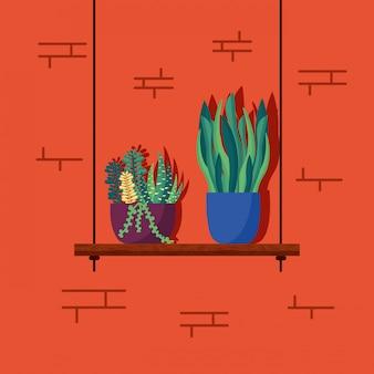 装飾的な家の植物のインテリアデザイン