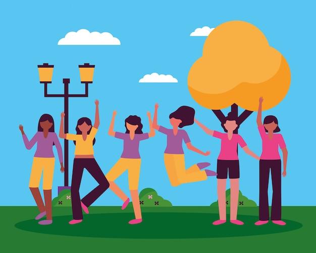 Празднование счастливого дизайна молодых людей