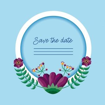 結婚式は日付カードを保存