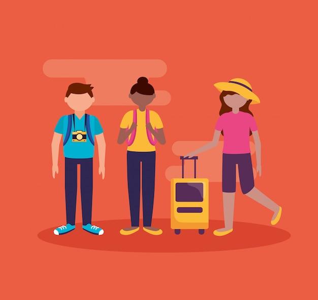 人とフラットスタイルの旅行