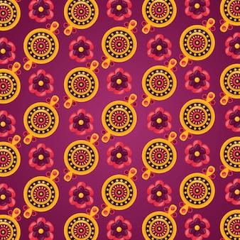 幸せなラクシャバンダンのお祝いのシームレスなパターン