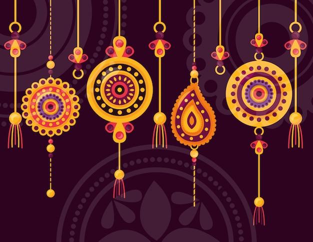 Счастливое празднование ракша бандхана