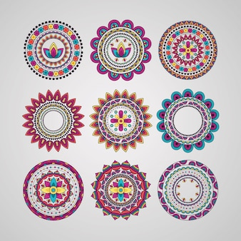 Мандала цветочные украшения этнической