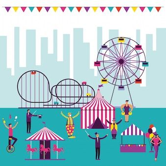 Цирковая развлекательная ярмарка