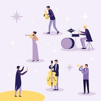 Музыкальные люди инструменты
