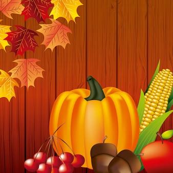 幸せな感謝祭のお祝い