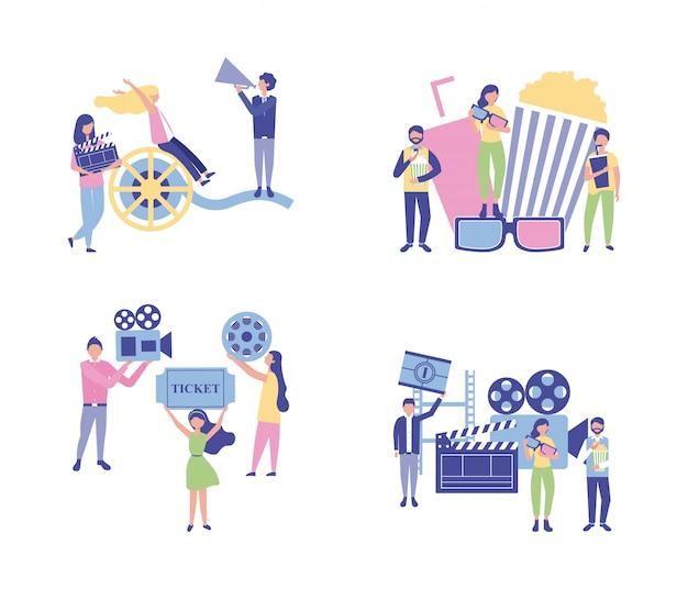 Производство кино людей