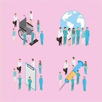 Медицинские персонажи здоровья