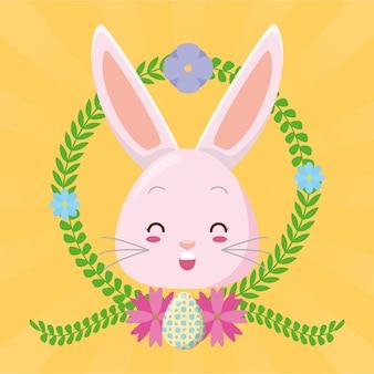 かわいいウサギの顔漫画