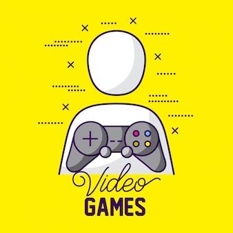 Геймер аватар и контроль, видео игры