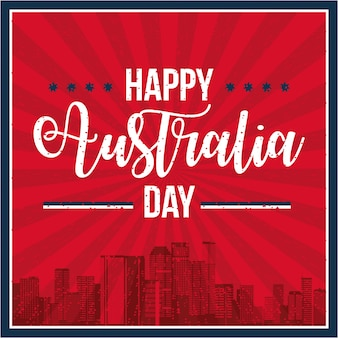 Счастливое празднование дня австралии