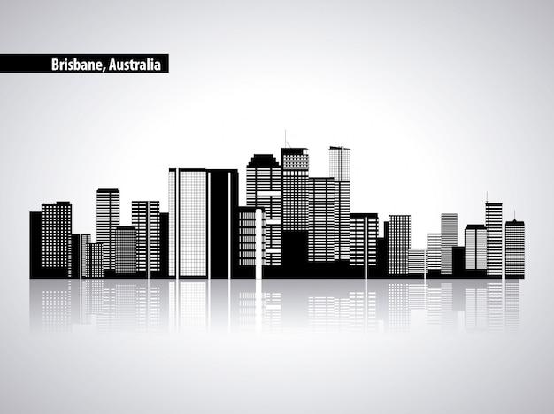 Горизонт австралии, городские здания