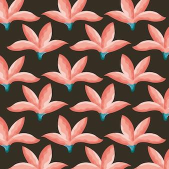 Тропические цветы шаблон