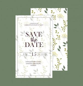 葉を葉で保存する日付カードのセット