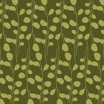 Зеленые абстрактные листья, узор