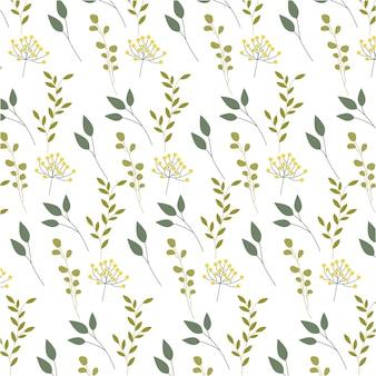 Узоры из цветов, листьев и листвы
