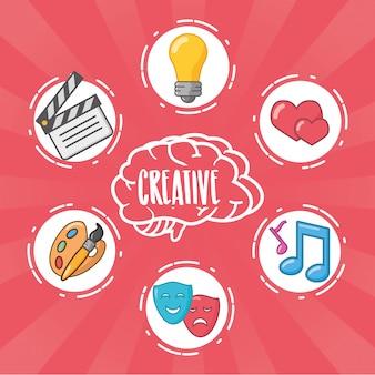 脳のアイデアの創造性