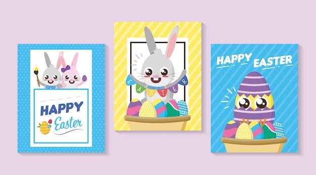 Счастливая пасхальная открытка