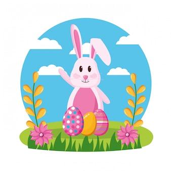 Счастливой пасхи праздник иллюстрация