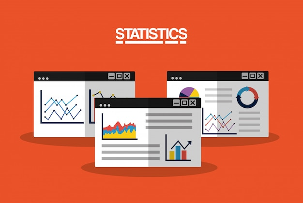 Данные статистики бизнес-изображения иллюстрации