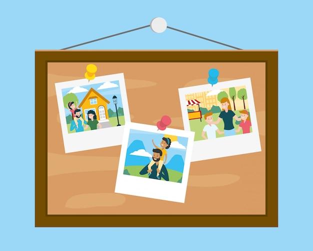 Доска с фотографиями в день семьи