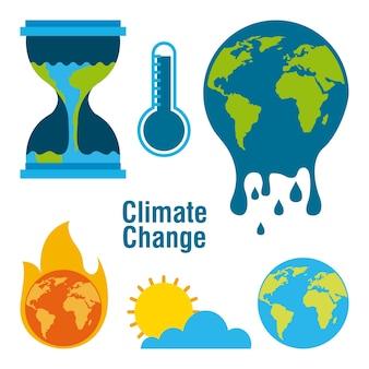 Набор климатических изменений