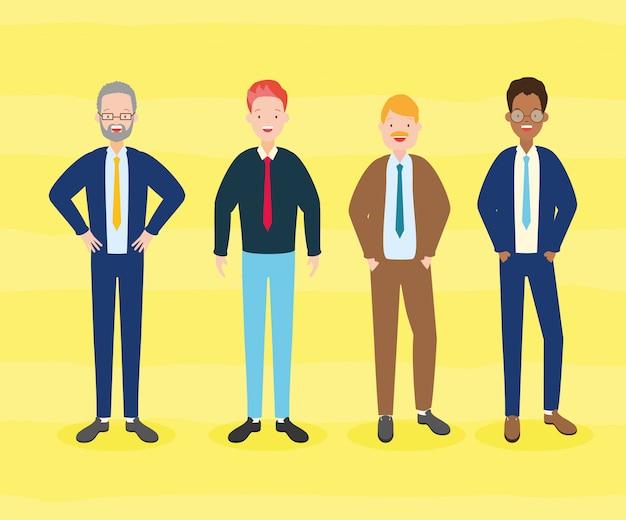 男性のグループ
