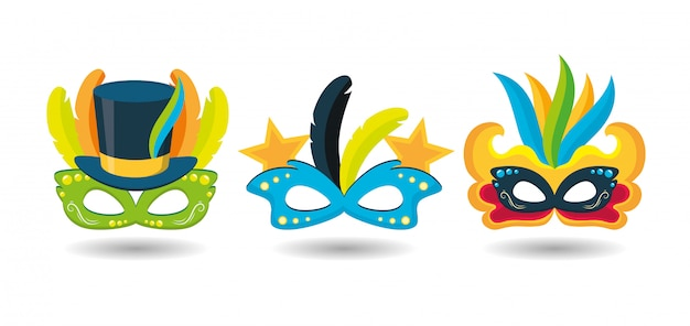ブラジルのカーニバルフェスティバルマスク