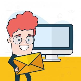 メールのコンセプトを送信