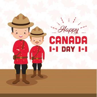 幸せなカナダの日の概念