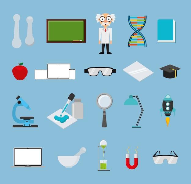 Набор иконок химии