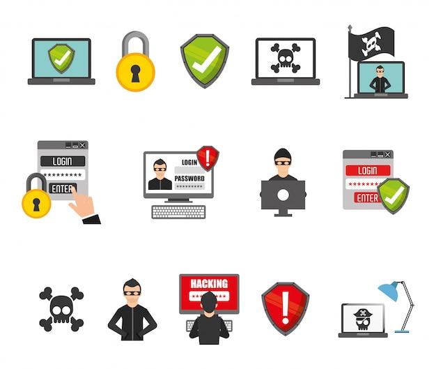 セキュリティシステムのアイコンを設定