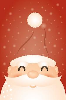 Веселый новогодний фон с дедом морозом