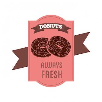 Этикетка сладких пончиков