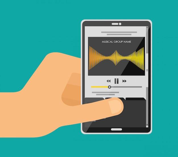 モバイルで音楽を再生する