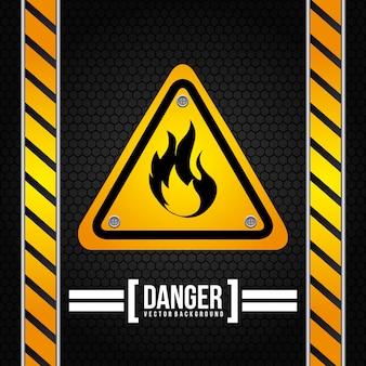 Предупреждающий сигнал на черном