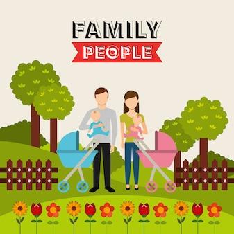 Дизайн семьи людей